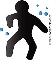 Duo Tone Icon - Crime victim - Crime victim icon in duo tone...
