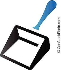 Duo Tone Icon - Dustpan - Dustpan icon in duo tone color....