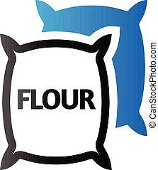 Duo Tone Icon - Flour sack
