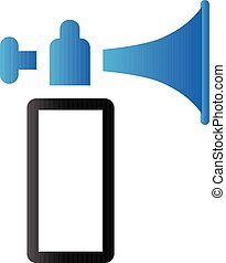 Duo Tone Icon - Gas horn - Gas horn in duo tone color. Alarm...
