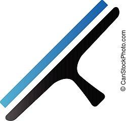 Duo Tone Icon - Glass scraper