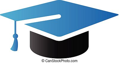 Duo Tone Icon - Graduation hat - Graduation hat icon in duo...