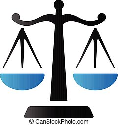 Duo Tone Icon - Justice scale - Justice scale icon in duo...