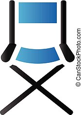 Duo Tone Icon - Movie director chair