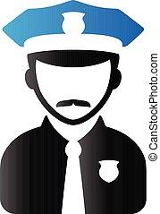 Duo Tone Icon - Police avatar