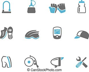 Duo Tone Icons -Bicycle Accessories