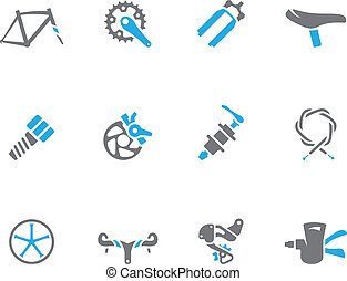 Duo Tone Icons - Bicycle Parts - Bicycle part icons