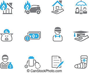 Duo Tone Icons - Insurance - Insurance  icons in duo tone