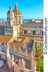Duomo di Catania - Saint Agatha Cathedral of Catania in...