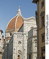 Duomo di Firenze - View of a side of Duomo of Florence,...