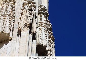 Duomo di Milano gothic cathedral church, Milan, Italy