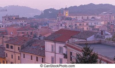 Duomo di San Pancrazio Martire after sunset in beautiful...