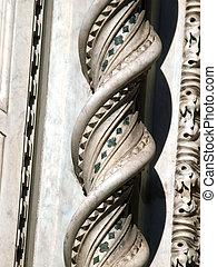 duomo, elaborado, -, portal, decorações, fachada, florença