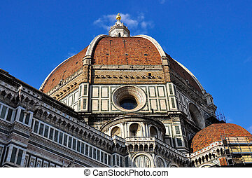 Duomo of Florence, in the Italian Tuscany.