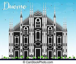 Duomo. Milan. Italy. Vector Illustration. Tourism Concept...