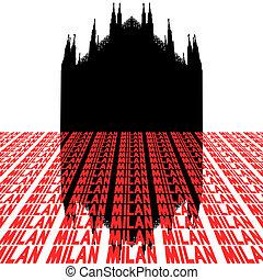 Duomo Milan Italy with text - Duomo Milan Italy with...