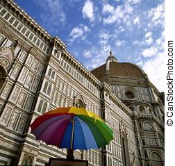 Duomo Santa Maria del Fiore, Florence, - Umbrella in front...