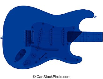 Duotone Blue Electric Guitar