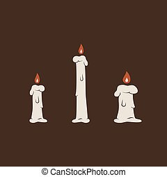 Duotone Cartoon candles pack icon. Smiley and evil emotions