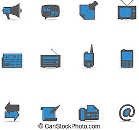 Duotone Icons - Communication - Communication icon series in...