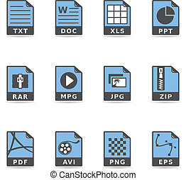 Duotone Icons - File Formats - File type icon series in...