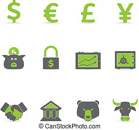 Duotone Icons - Finance - Finance icon set in duotone color....