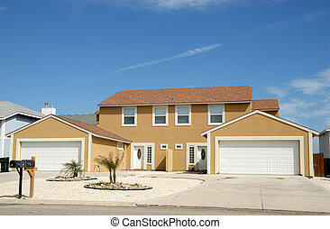 Duplex house in the United States