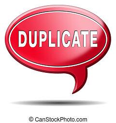 duplicado