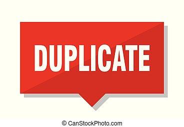 duplicate red tag