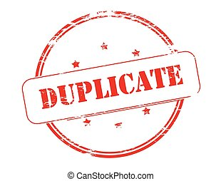Duplicate - Rubber stamp with word duplicate inside, vector ...