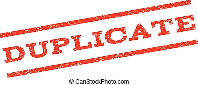 Duplicate Watermark Stamp