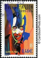 duque, 2002:, serie, estampilla, -, músico de jazz, (1899-...