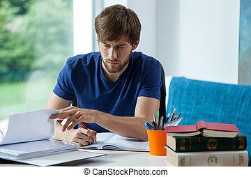 dur, étudier