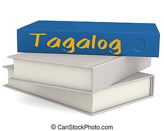 dur, couverture, bleu, livres, à, tagalog, mot