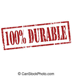 Durable-stamp - Grunge rubber stamp with text 100%...