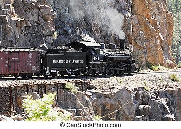 durango, &, silverton, motor, 481