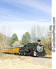 Durango Silverton Narrow Gauge Railroad, Colorado, USA -...