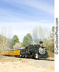 Durango Silverton Narrow Gauge Railroad, Colorado, USA -...