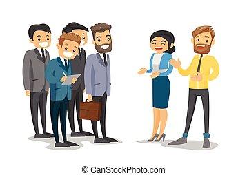 durante, conference., networking, caucasiano, delegados