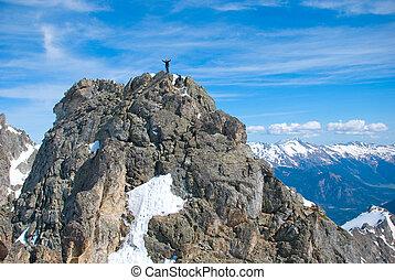 durante, conquista, pedra-escalador, rocha