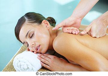 durante, massagem