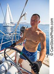 durante, raça, yachtsman, capitão