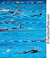 durante, triatlón, nadadores