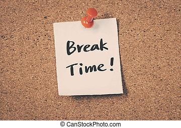 durata carattere di break