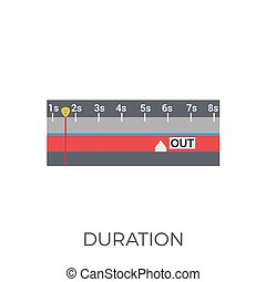 Duration Icon Vector. Isolated on White Background. Trendy...