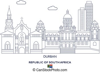 Durban City Skyline, South Africa