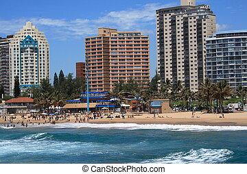 Durban coastline - view of durban coastline