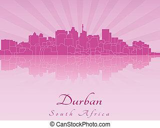 Durban skyline in purple radiant orchid