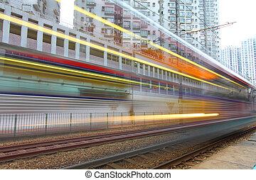 durch, stadtzentrum, verkehr, hongkong