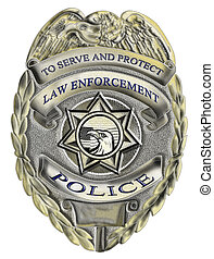 durchsetzung, gesetz, abzeichen, polizei